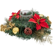 Gigi Seasons Poinsettia Votive Candle Holder