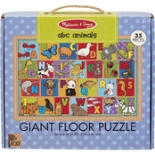 Melissa & Doug Natural Play ABC Animals Giant Floor Puzzle