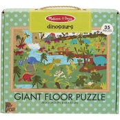 Melissa & Doug Natural Play Dinosaurs Giant Floor Puzzle