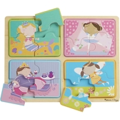 Melissa & Doug Natural Play Little Princess Wooden Puzzle