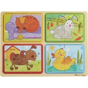 Melissa & Doug Natural Play Playful Pals Wooden Puzzle