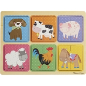 Melissa & Doug Natural Play Farm Friends Wooden Puzzle