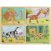 Melissa & Doug Natural Play Animal Patterns Wooden Puzzle