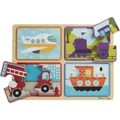 Melissa & Doug Natural Play Ready, Set, Go Wooden Puzzle