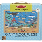 Melissa & Doug Natural Play Under the Sea Giant Floor Puzzle
