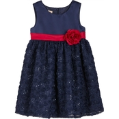 Purple Rose Little Girls Soutache Dress