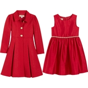 Purple Rose Little Girls Dress and Tweed Coat 2 pc. Set