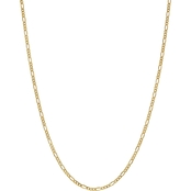 14K Yellow Gold 2.5mm Semi Solid Figaro Chain 18 in.