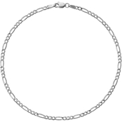 14K White Gold 2.5mm Semi Solid Figaro Chain 7 in.