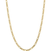 14K Yellow Gold 4.75mm Flat Figaro Chain Necklace