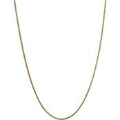 14K Yellow Gold  1.5mm Franco Chain Necklace