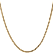 14K Yellow Gold  3mm Semi Solid Franco Chain Necklace