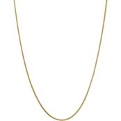 14K Yellow Gold 1.3mm Franco Chain Necklace