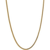 14K Yellow Gold  3.7mm Semi Solid Franco Chain Necklace