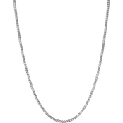 14K White Gold 3.0mm Franco Chain Necklace