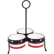 C & F Home Americana Condiment Server Set