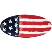 C & F Home Flag Oval Platter