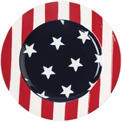 C & F Home Stars & Stripes Salad Plate