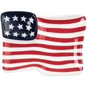 C & F Home Flag Shaped Plate