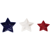 C & F Home Patriotic Star Dish 3 pc. Set