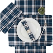 C & F Home Max Plaid Navy Table Runner
