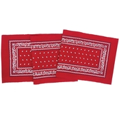 C & F Home Bandana Red Table Runner
