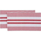 C & F Home Red and White Table Runner