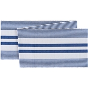 C & F Home Blue and White Table Runner