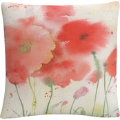 Sheila Golden 'Coral Fiesta' 16 in. x 16 in. Decorative Throw Pillow