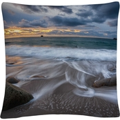 Trademark Fine Art Mathieu Rivrin 'The Song of Water' Decorative Throw Pillow