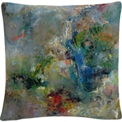 Jane Deakin 'Valley of the Waterfalls' 16 in. x 16 in. Decorative Throw Pillow