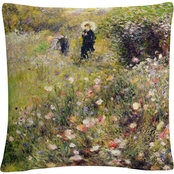 Trademark Fine Art Pierre Renoir 'Summer Landscape' Decorative Throw Pillow