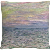 Trademark Fine Art Claude Monet Coucher de Soleil a Pourville Throw Pillow
