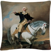 Trademark Fine Art John Faed Portrait of George Washington Throw Pillow