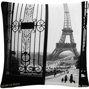 Trademark Fine Art Sally Gall Views of Paris 16 x 16 in. Decorative Throw Pillow