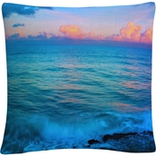 Trademark Fine Art Preston St. Martens Sunset 16 x 16 Decorative Throw Pillow