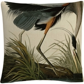 Trademark Fine Art John James Audubon Great Blue Heron Decorative Throw Pillow