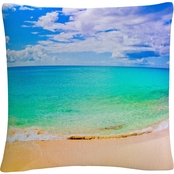 Trademark Fine Art Preston Maho Beach 16 x 16 Decorative Throw Pillow