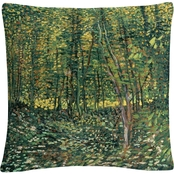 Trademark Fine Art Vincent Van Gogh Trees and Undergrowth Decorative Throw Pillow