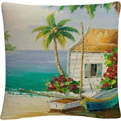 Rio 'Key West Breeze' 16 in. x 16 in. Decorative Throw Pillow