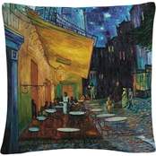 Trademark Fine Art Vincent van Gogh 'Cafe Terrace' Decorative Throw Pillow