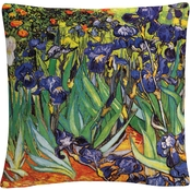 Trademark Fine Art Vincent van Gogh Irises at Saint Remy Decorative Throw Pillow