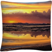 Trademark Fine Art Young Morning Reflections Decorative Pillow