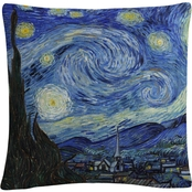 Trademark Fine Art Vincent van Gogh Starry Night Decorative Throw Pillow