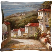 Trademark Fine Art Joval Home in Tuscany 16 x 16 in. Decorative Throw Pillow