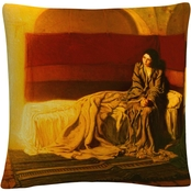 Trademark Fine Art Henry Ossawa Tanner The Annunciation Decorative Throw Pillow