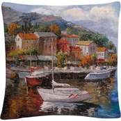Trademark Fine Art Joval At Sea 16 x 16 in. Decorative Throw Pillow