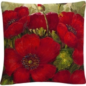 Trademark Fine Art Rio Poppies II 16 x 16 in. Decorative Throw Pillow