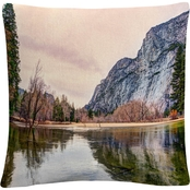Trademark Fine Art David Ayash Yosemite Valley Throw Pillow