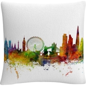 Trademark Fine Art London England Skyline IX Decorative Throw Pillow